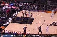 خلاصه بازی بسکتبال فینیکس سانز - لس آنجلس کلیپرز