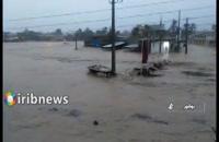 سیل ، ورودی و خروجی شمال استان بوشهر را مسدود کرد