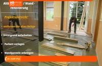 نصب دیوار پوش سه بعدی - بازسازی ساختمان قدیمی استفاده از دیوارپوش چوبی
