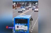 حادثه مرگبار سقوط اتوبوس مدرسه به درون مخزن