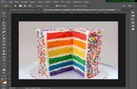 آموزش ترکیب تصاویر در فتوشاپ - طراحی آناناس کیکی با فتوشاپ