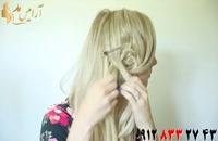 کلیپ آموزش بافت مو به شکل گل + دیزاین یکطرفه مو