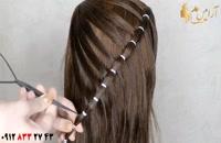 کلیپ آموزش شینیون ساده و باز مو + بافت جدید مو با قلاب