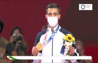 اهدای مدال طلا به محمدرضا گرایی