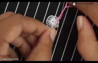 آموزش گلدوزی با دست روی لباس/گلدوزی روی لباس