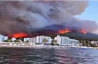 جنگل های ترکیه طعمه آتش شد