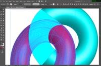 آموزش طراحی حلقه های تو در تو سه بعدی در ایلاستریتور