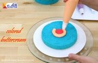 کیک رنگارنگ بسیار زیبا
