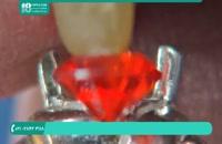 ساخت انگشتر زنانه و نحوه ی تراش نگین انگشتر ( جواهر سازی )