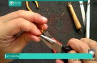 طریقه ساخت انگشتر مارپیچ زنانه با سیم مفتول