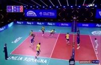 خلاصه بازی والیبال برزیل - فرانسه