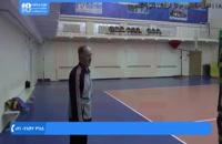 والیبال به کودکان- آموزش ضربه زدن و عبور توپ و حمله کردن به کمک تجهیزات