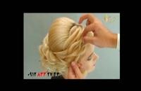 آموزش شینیون مو مدل ملکه + دیزاین زیبا مو