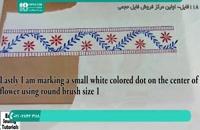 نحوه طراحی و سایه زدن طرح سنتی بر روی مانتو پارچه ای