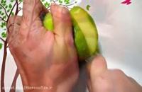 آموزش میوه آرایی - طرح گل با سیب