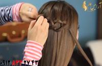 فیلم آموزش بافت مو زنجیره ای + مدل مو آبشاری