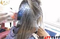 فیلم مش کردن مو + آموزش هایلایت مو با کلاه