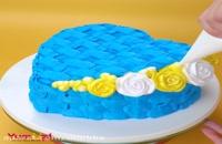 آموزش تزئین بهترین کیک های رنگارنگ