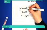 نحوه کشیدن گربه ملوس در دونات