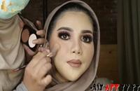 کلیپ آموزش گریم و میکاپ عروس با پوشش اسلامی