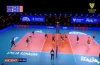 خلاصه بازی والیبال کانادا 3 - هلند 0