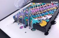 آموزش طراحی تابلو با رنگ و زنجیر