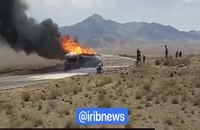 انفجار تریلر حامل بنزین در گلپایگان
