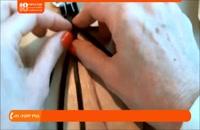 2.دستبند و کیف چرمی- بافت دستبند چرمی 6 رشته ای