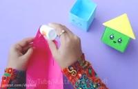 طریقه ساخت قلک کاغذی به شکل خانه