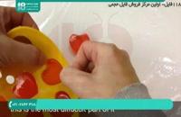 مراحل ساخت صابون ژله ای طرح قلب