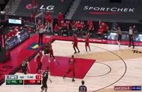 خلاصه بازی بسکتبال تورنتو رپترز - میلواکی باکس