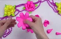 گل با کاغذ رنگی - کاردستی