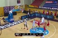 خلاصه بازی بسکتبال ایران - لتونی (زیر 19 سال)