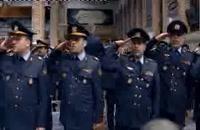 لحظه ورود فرمانده کل قوا و احترام نظامی نیرو های ارتش
