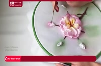 آموزش روبان دوزی - آموزش گلدوزی گل با ربان ساتن(پارت دوم)