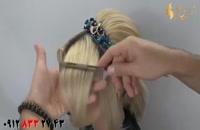 فیلم آموزش شینیون مو کوتاه با تل سر تزیینی