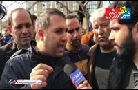 تجمع اعتراضی هواداران استقلال مقابل این باشگاه
