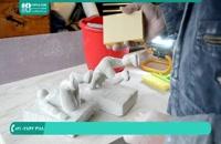 روش ساخت تخته سنگی نگه دارنده کتاب | حکاکی سنگ