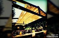 حقانی 09380039391_ساخت  سایبان برقی کافه رستوران_اجرای سقف کنترلی بام رستوان