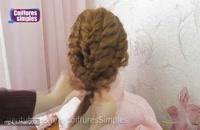 آموزش مدل موی جدید عروس آسان برای موهای متوسط