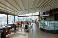 سایبان تاشو کافه- سقف بازشو سالن غذاخوری- سایبان ریموتدار کافی شاپ- سقف اتوماتیک کافه رستوران