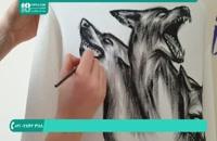 نقاشی روی هودی پسرانه در طرح روباه