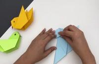 آموزش ساخت کاردستی پرنده با استفاده از کاغذ رنگی
