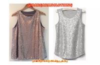انواع لباس مجلسی و تاپ پولکی زنانه برند وارداتی Dargahanclothing