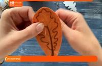 آموزش جواهر دوزی _ طراحی و دوخت گل سینه