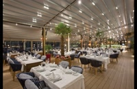 حقانی 09380039391-زیباترین سقف برقی رستوران-سایبان متحرک کافه رستوران-سقف جمع شونده حیاط رستوران