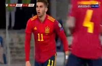 خلاصه مسابقه فوتبال گرجستان 1 - اسپانیا 2