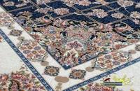 فرش کاشان 1200 شانه نقشه پیچک سرمه ای