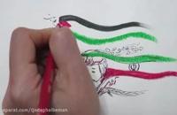 نقاشی شهید سردار حاج قاسم سلیمانی