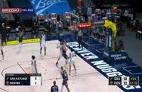 خلاصه بازی بسکتبال دنور ناگتس - سن آنتونیو اسپرز